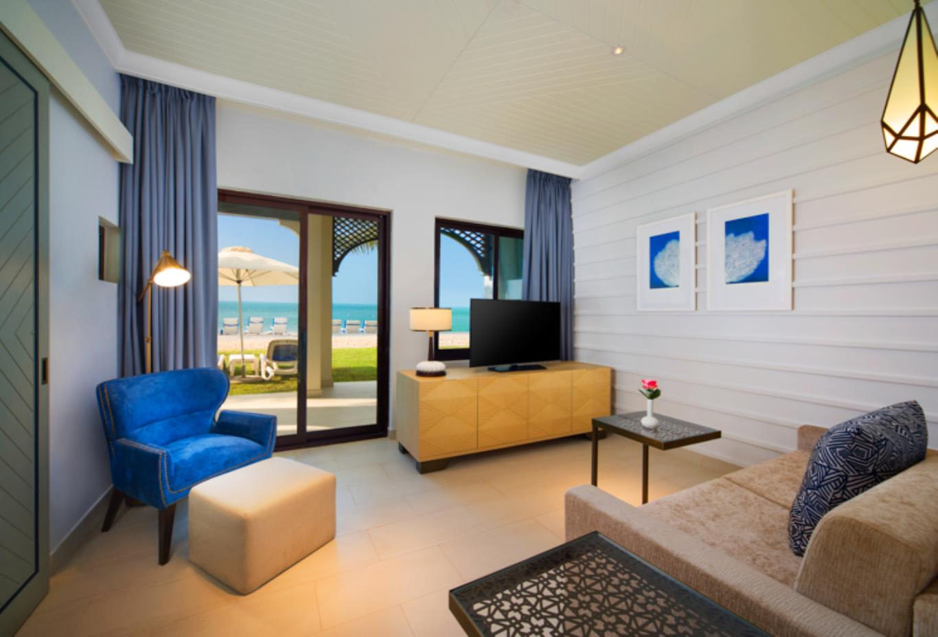 Junior Suite Beach Access Villa Living Room