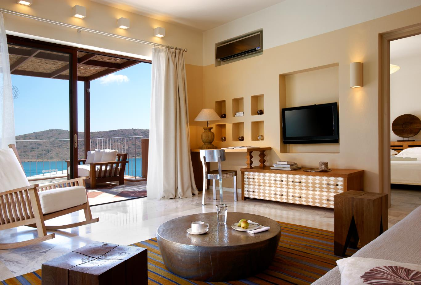 Premium One Bedroom Suite with Outdoor Jacuzzi living room