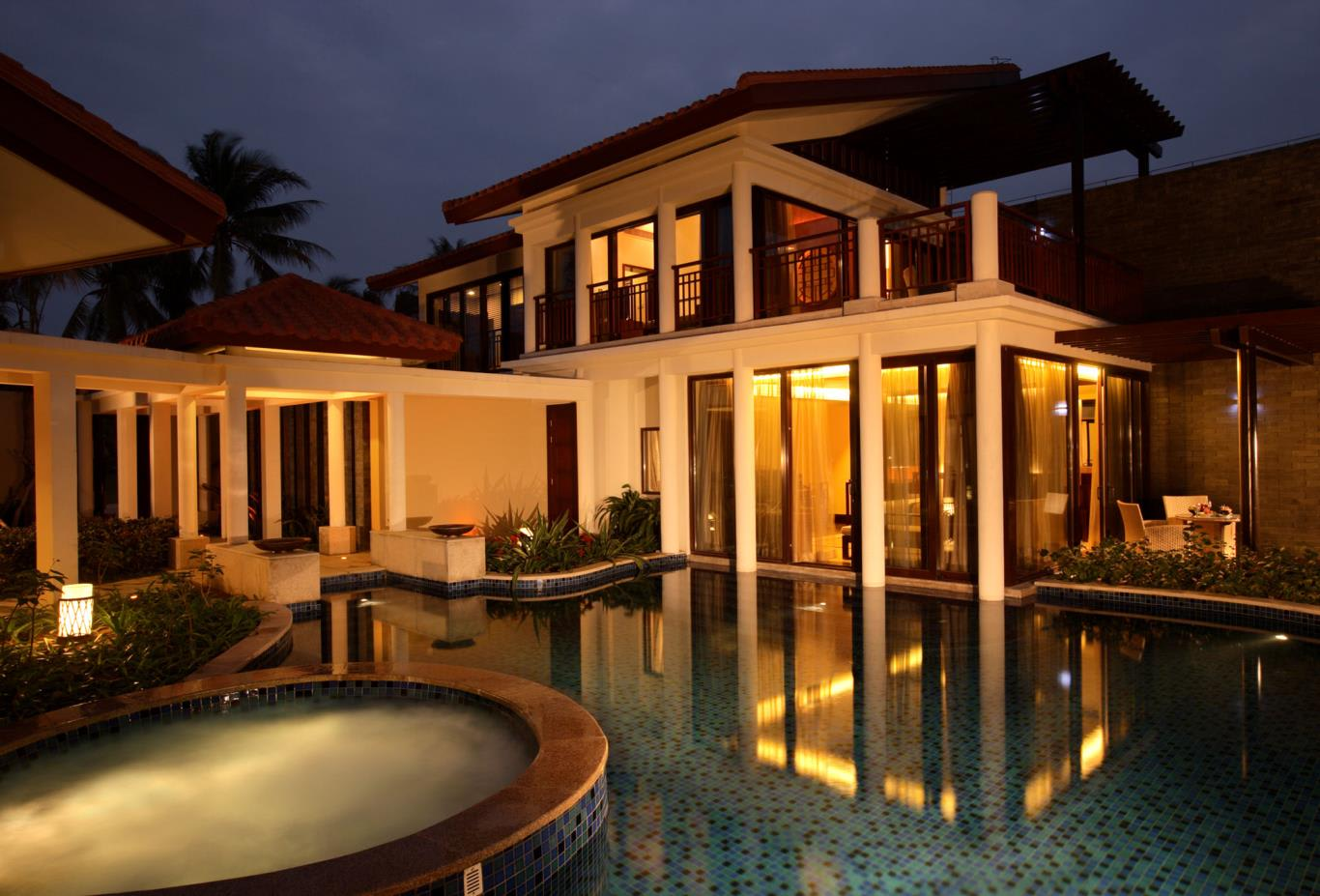 Two Bed Pool Villa Night