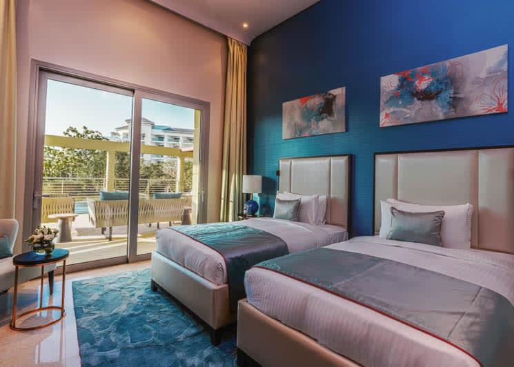 4 bedroom pool suite twin room
