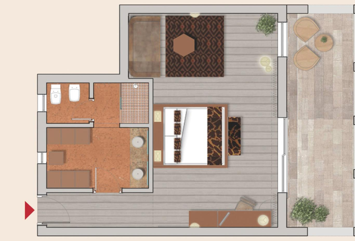 Floorplan Superior-junior-suite