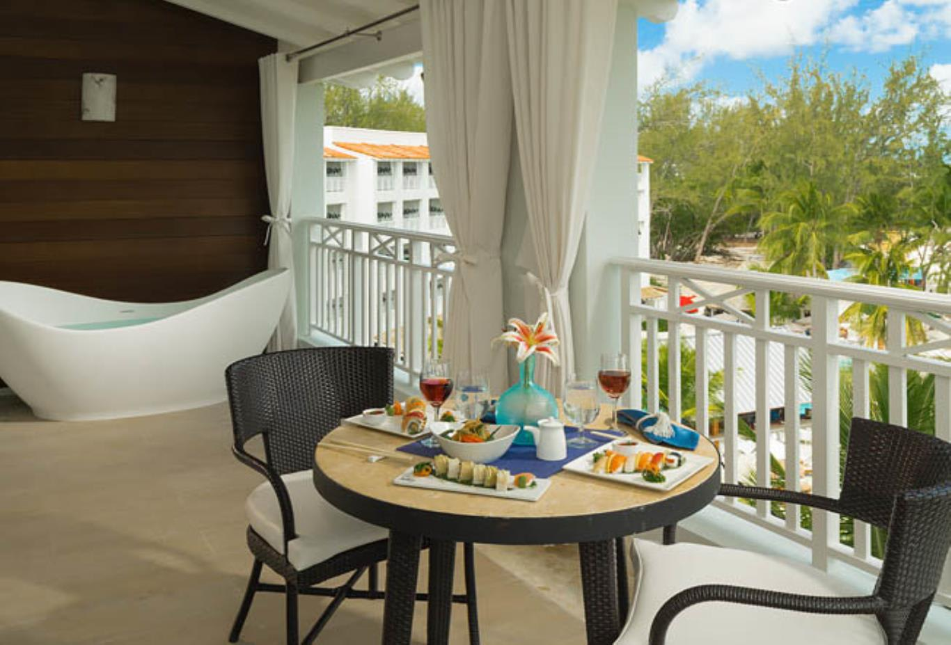 Ocean Village Beachfront One Bedroom Butler Suite with Balcony Tranquility Soaking Tub