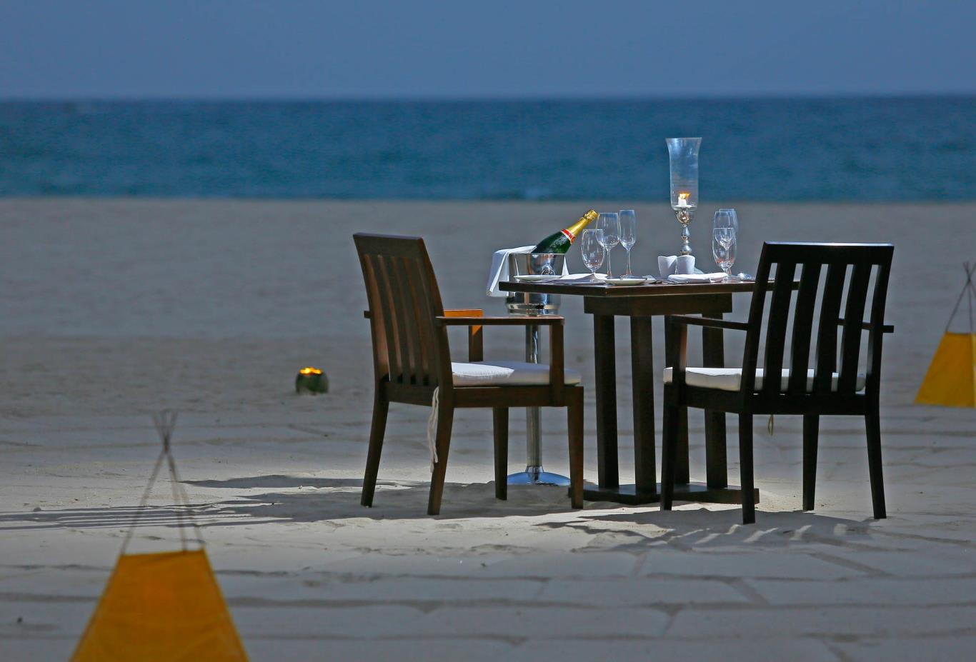 Private Dining On Beach