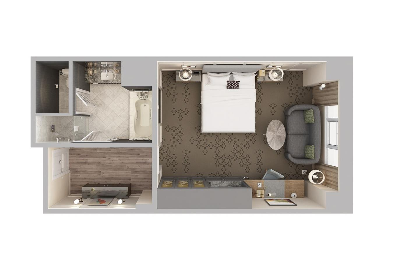 Coastal View Guest Room floorplan
