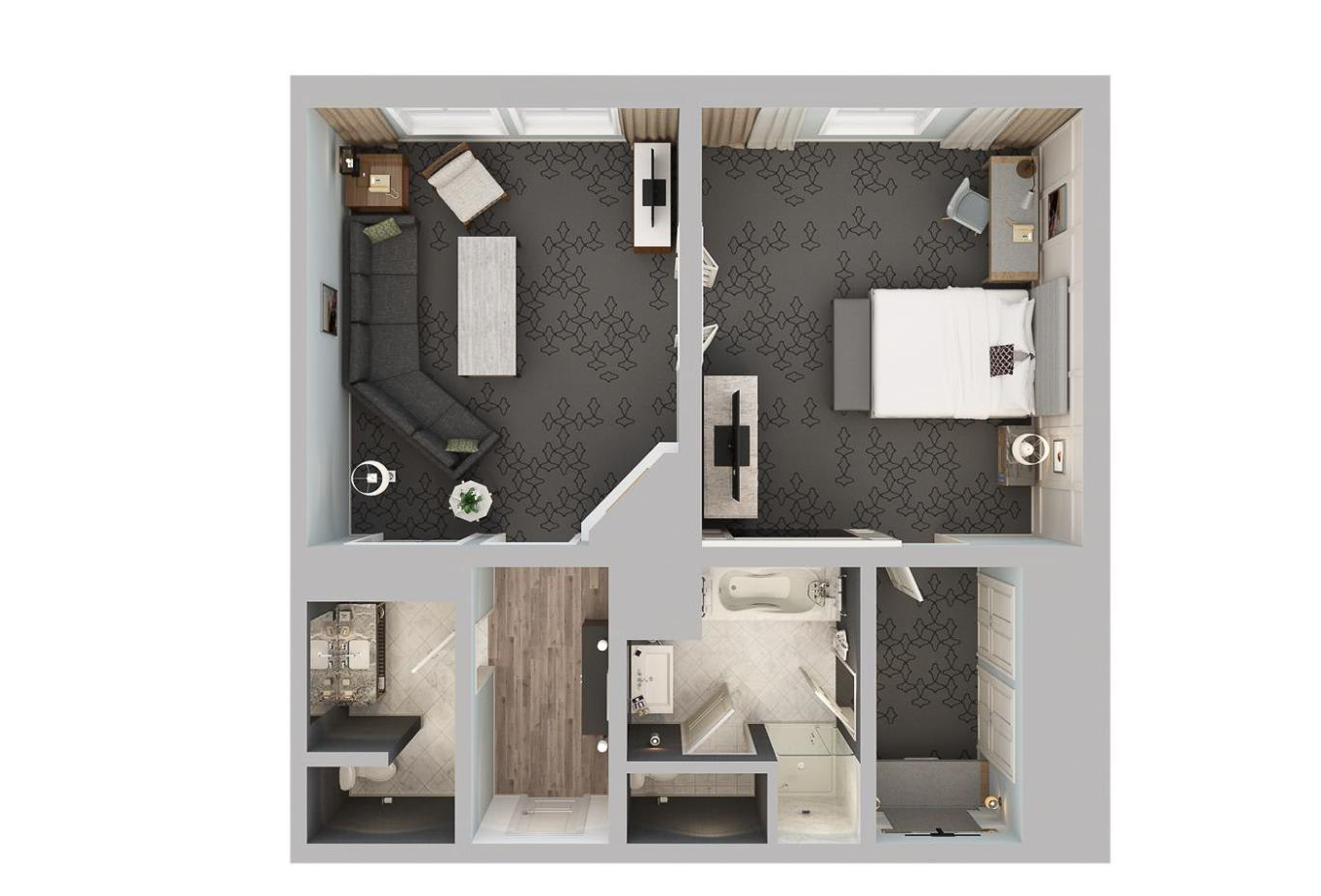 Courtyard View Suite floorplan