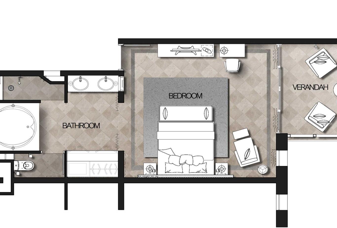 Deluxe Sea View Floorplan
