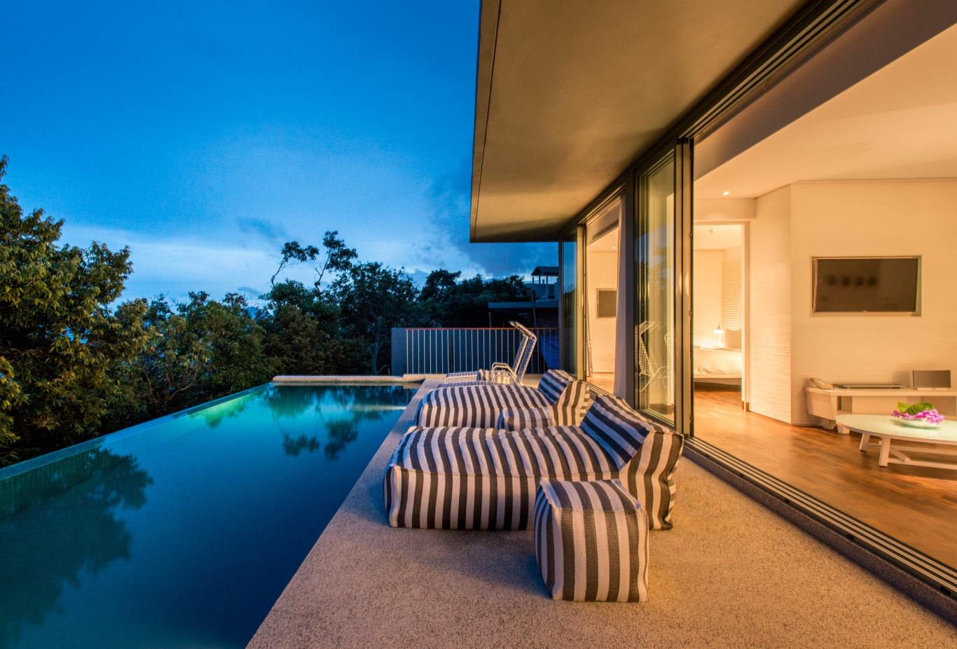 Two Bedroom Pool Villa Evening View