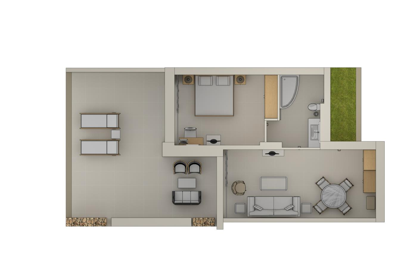 One Bedroom Bungalow Suite