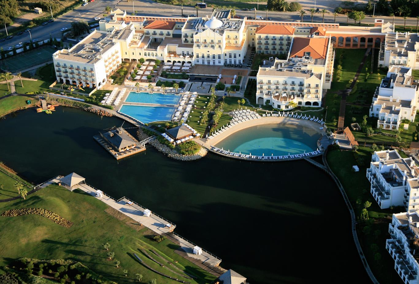 The Lake Spa Resort Aerial View