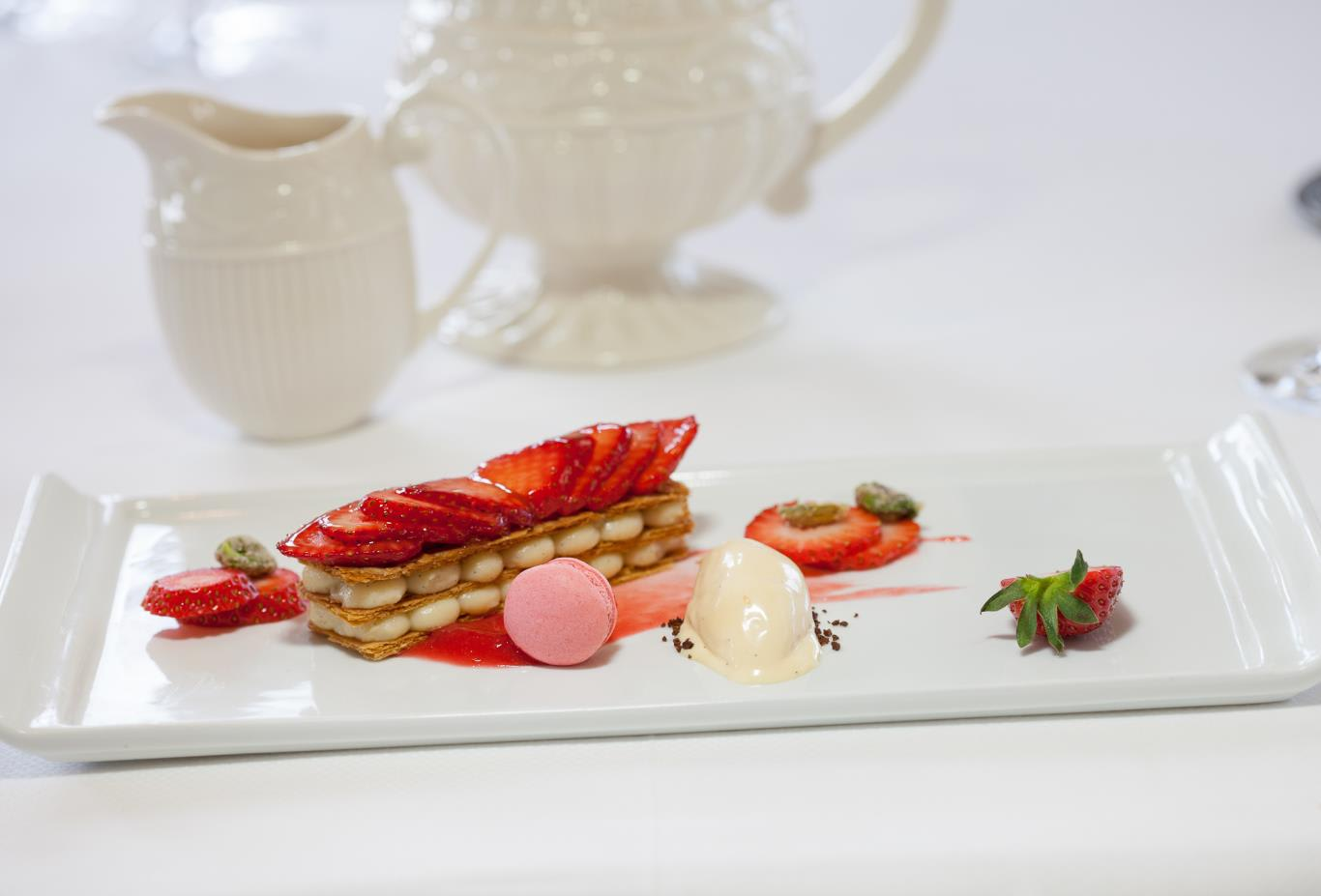 Mille Feuille of local strawberries