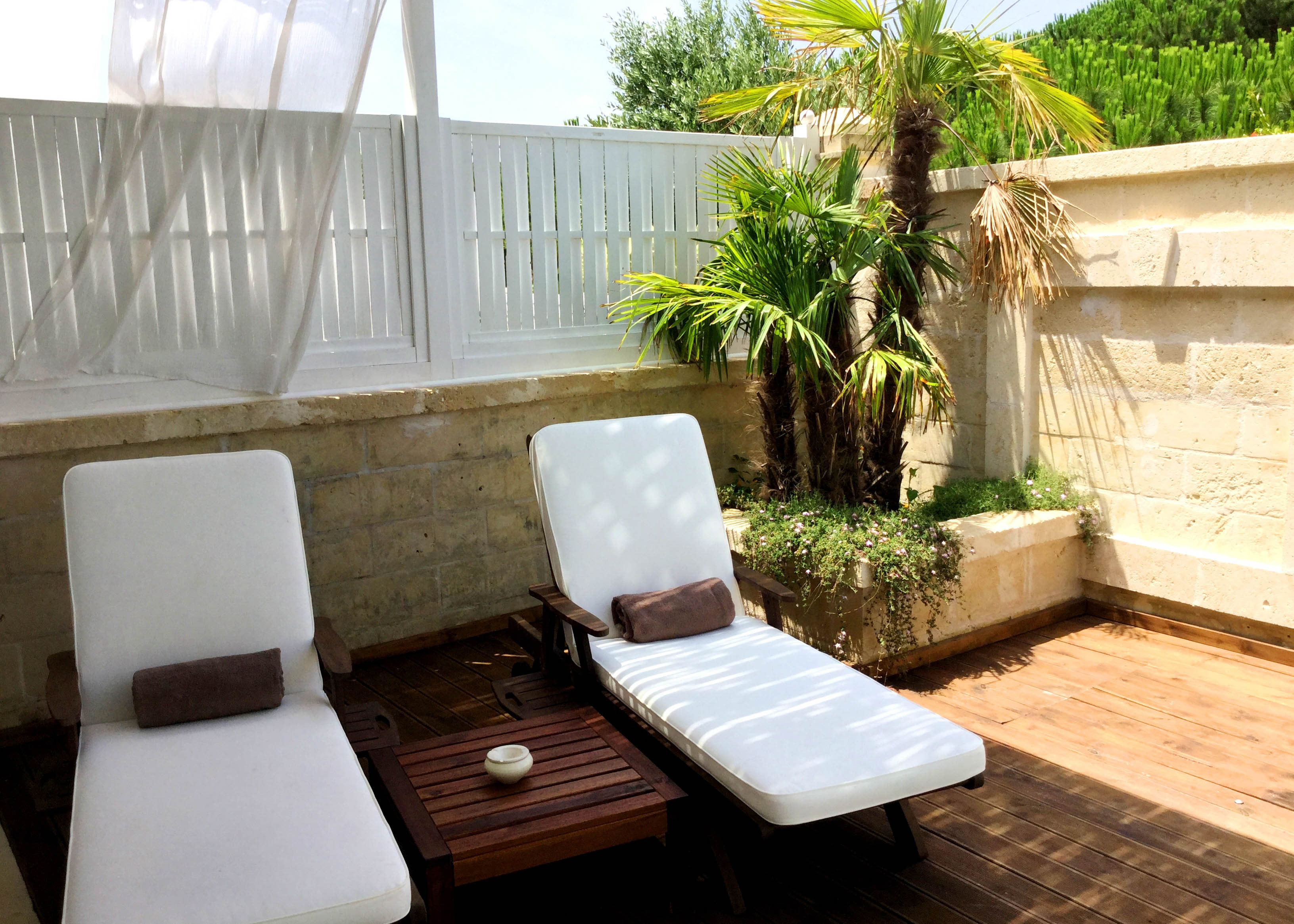 Canne Bianche Master Suite sun deck