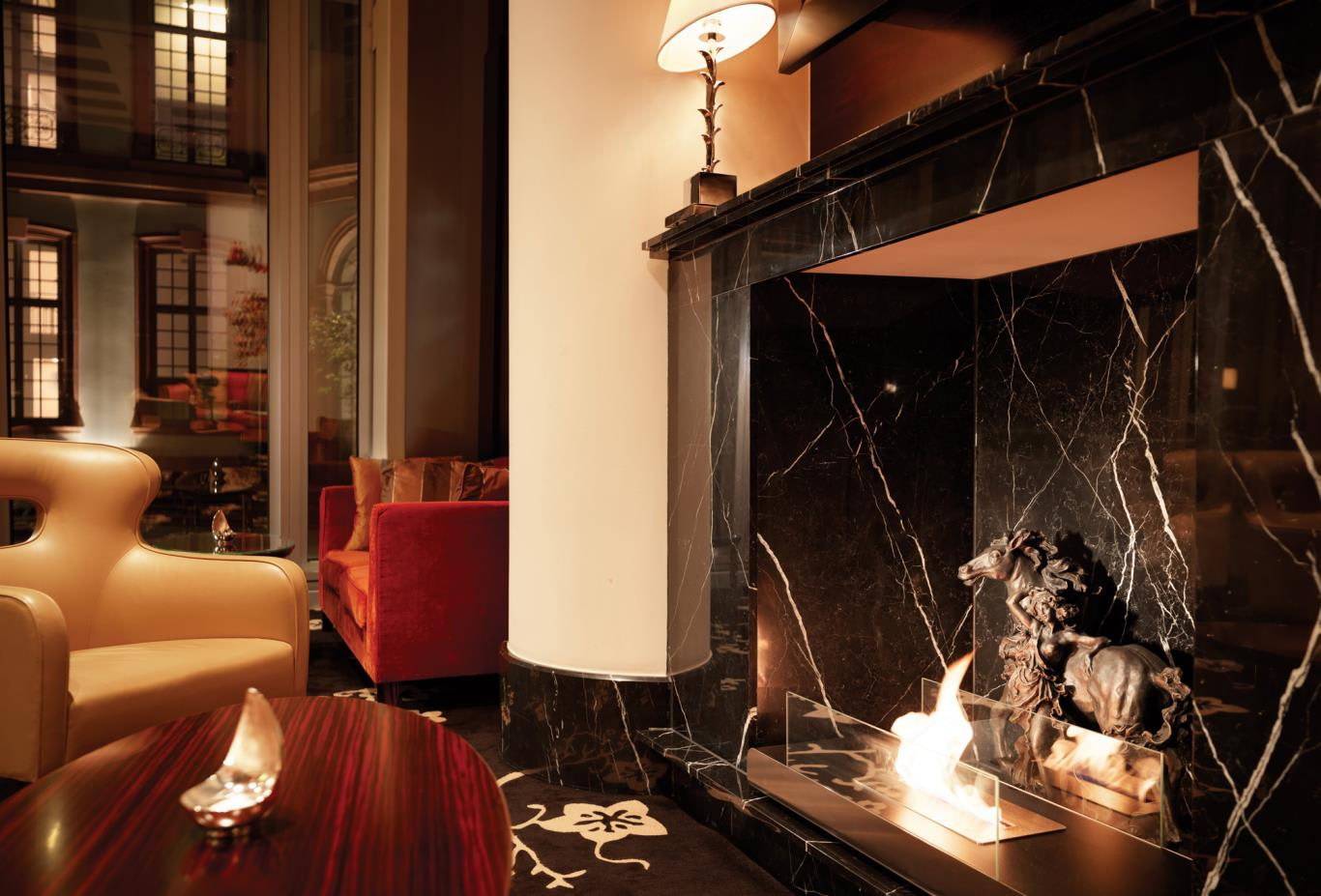 Ember Bar Lounge Fireplace
