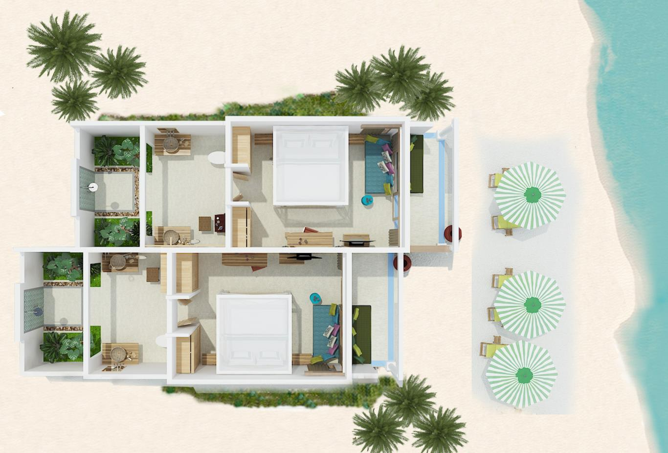 Floorplan Deluxe Beach Villa