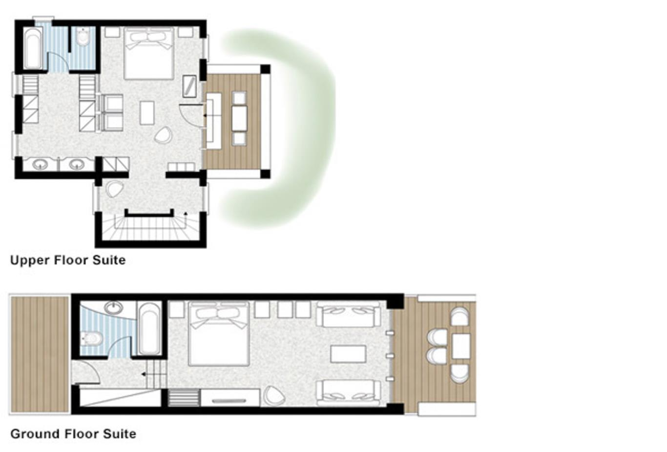 Floorplan Junior-bungalow-suite-ground floor