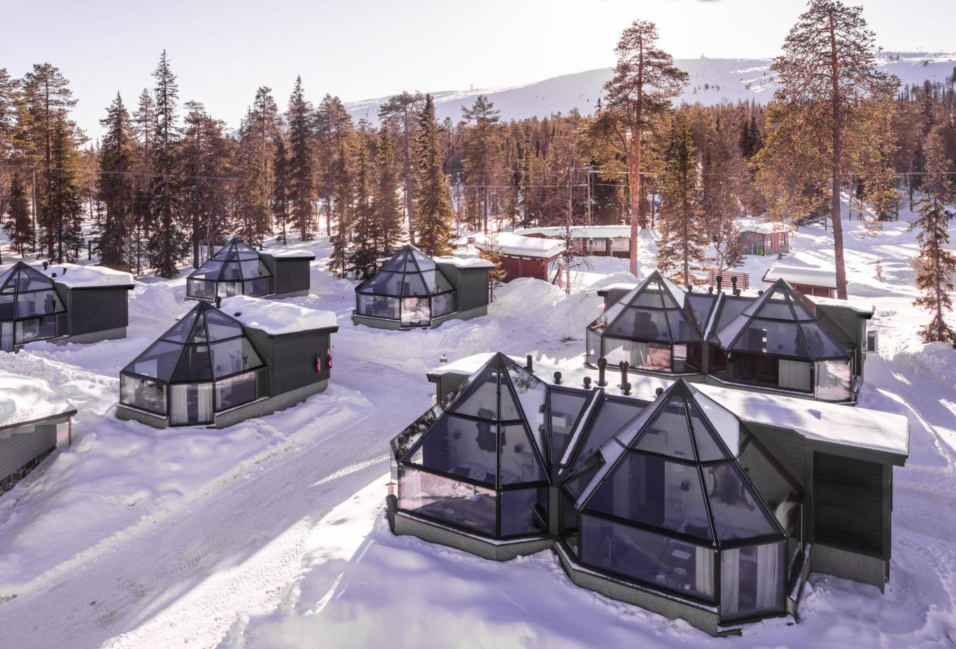 Glass igloos aerial