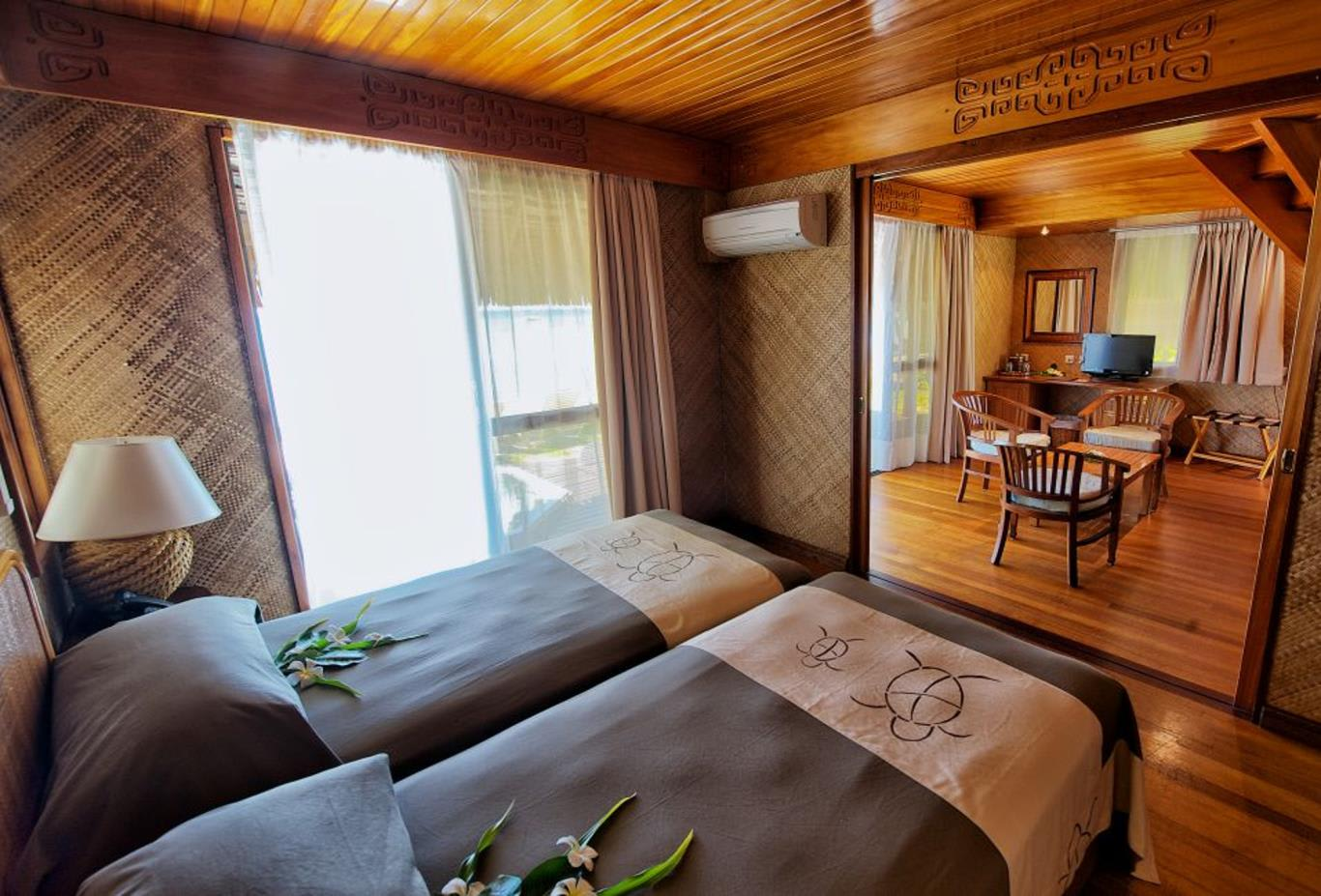 Beach Duplex Bungalow Twin Bedroom