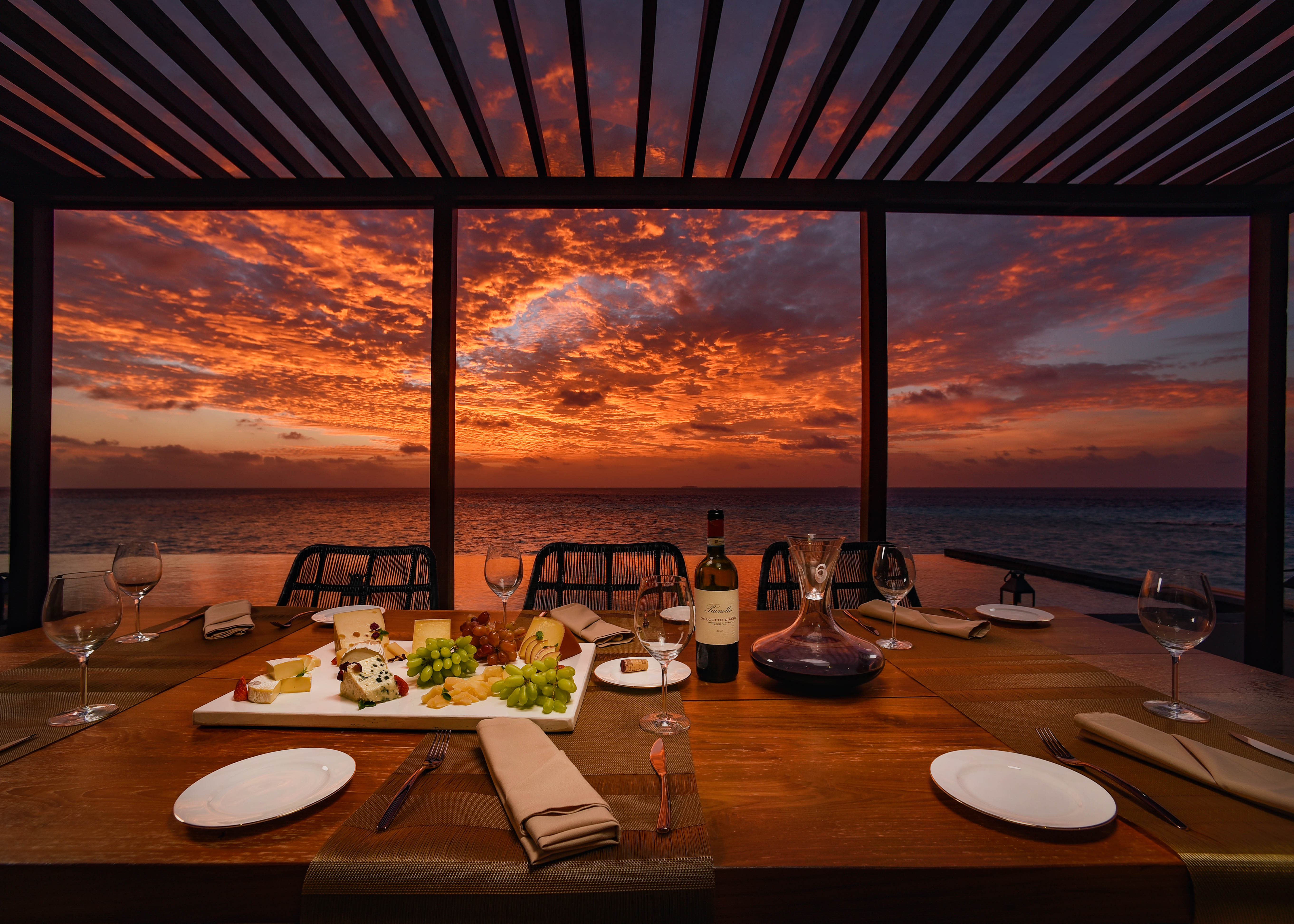 Ozen Water Suite sunset