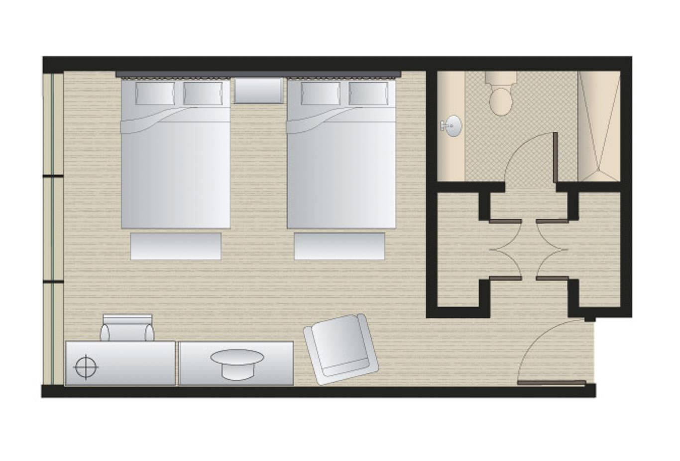Deluxe double floorplan