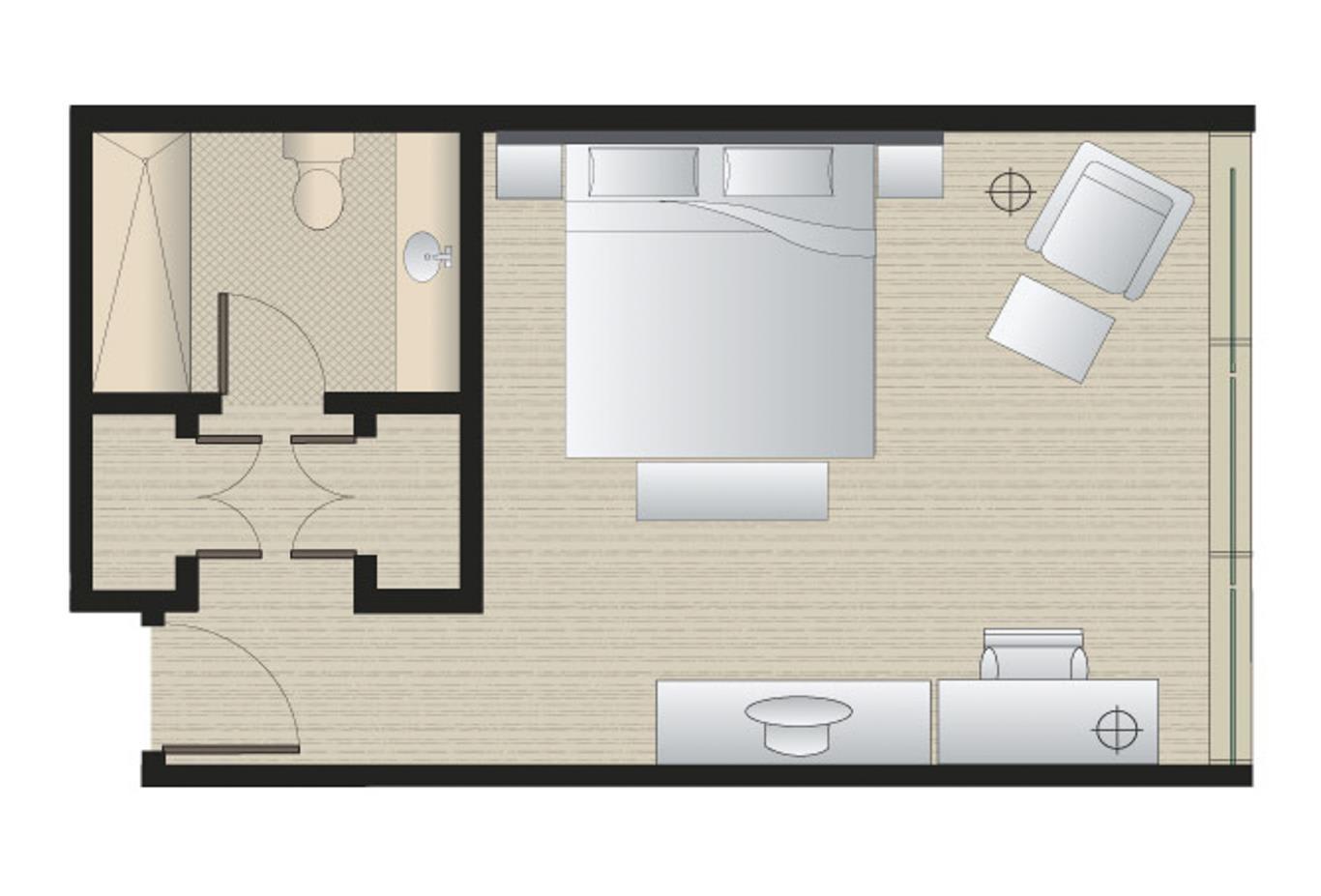 Deluxe king floorplan