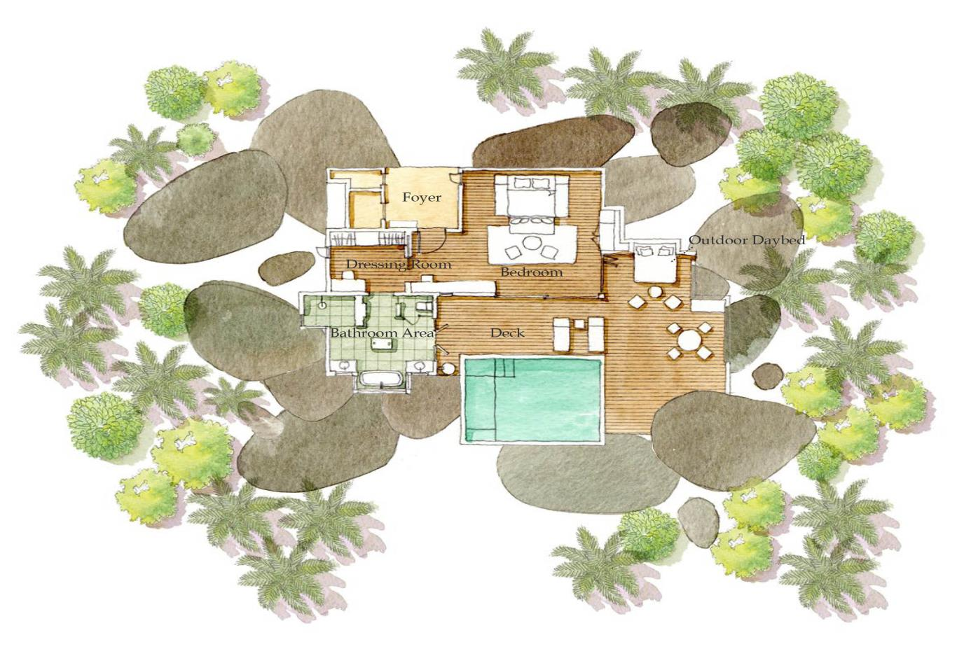 Floorplan Panorama Pool Villa