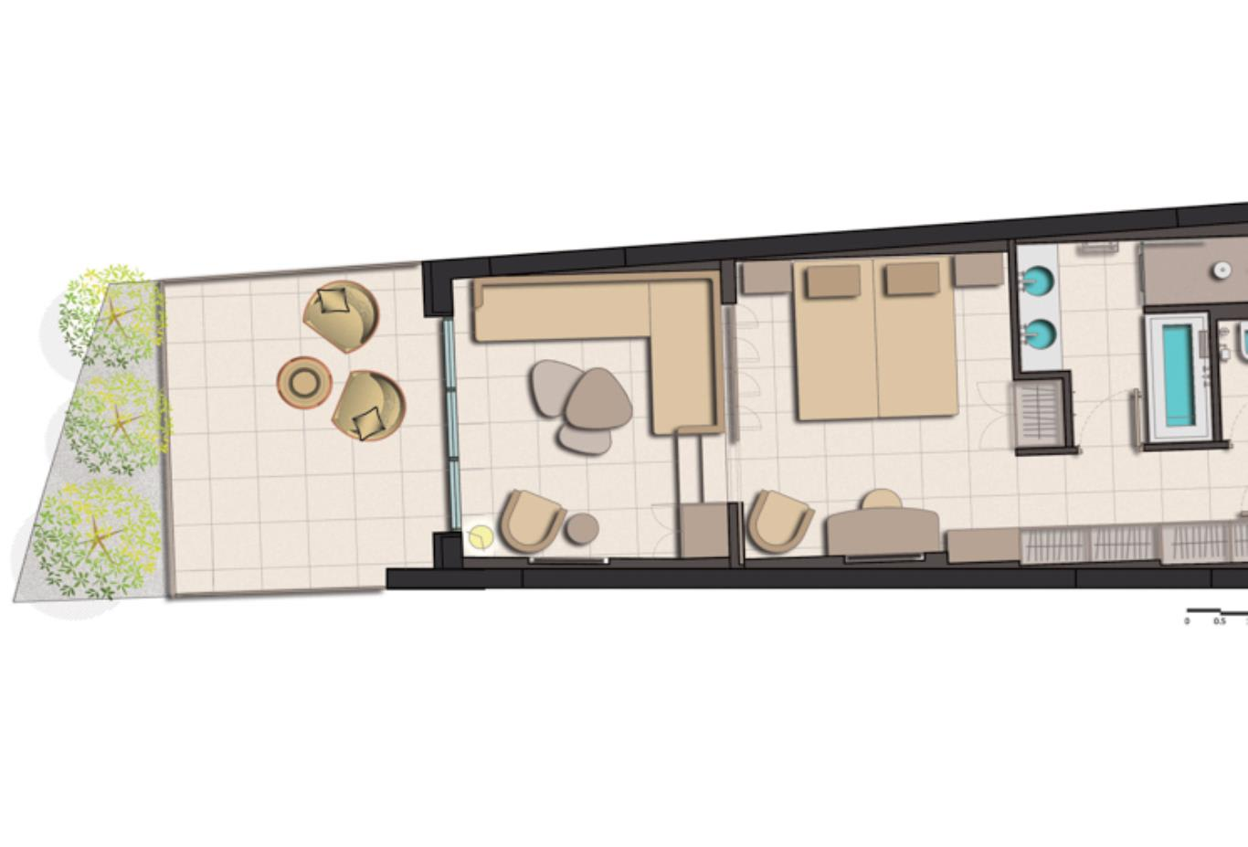 Family Junior Suite Garden View floorplan