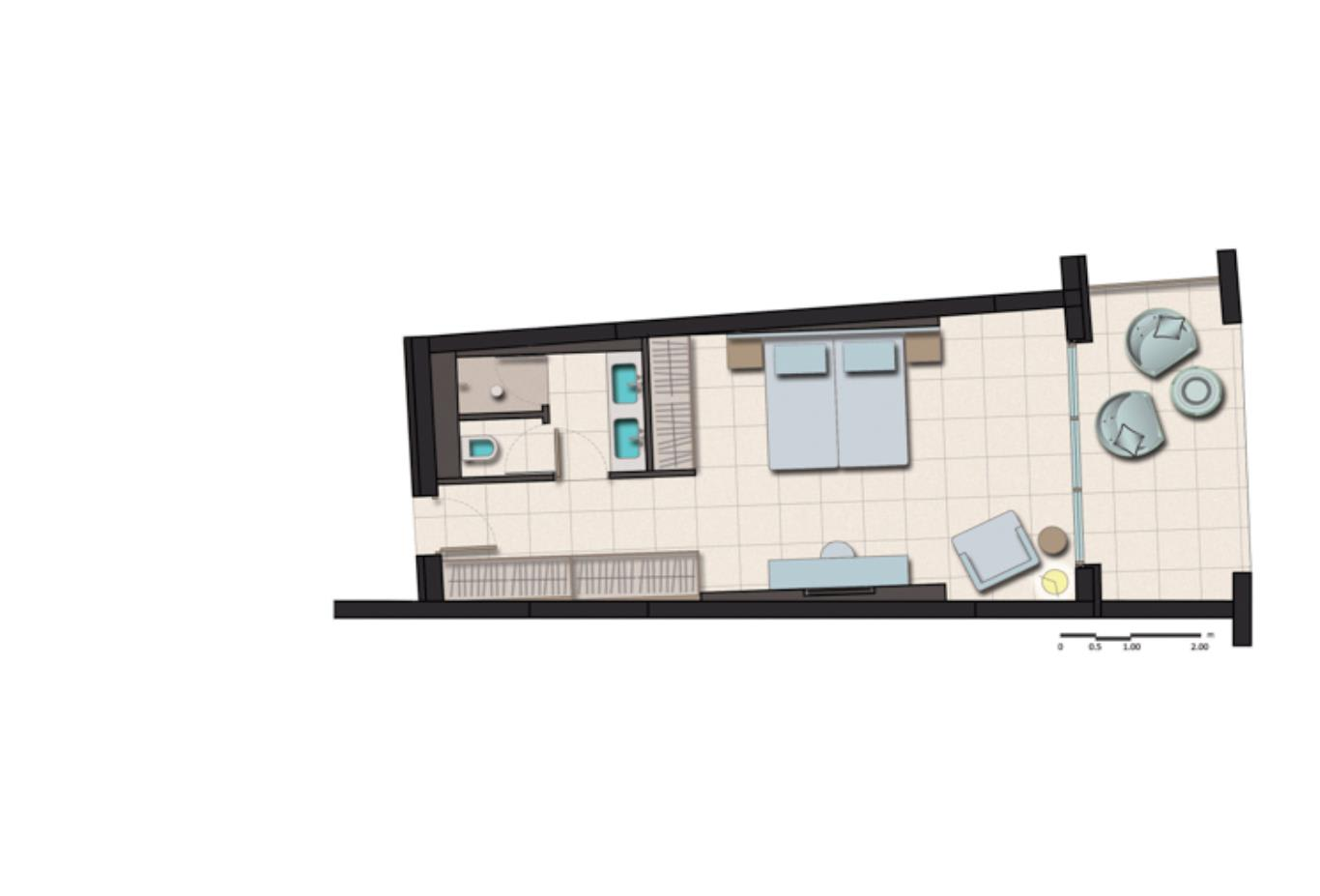 Standard Double floorplan