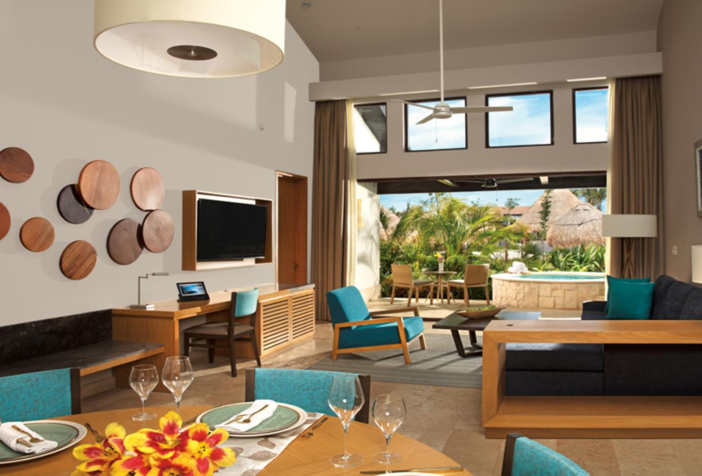 Family Villa living area - Preferred Club Villa