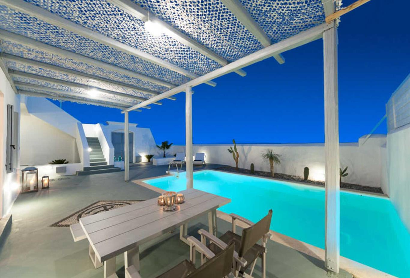 Family Villa with Private Pool -  evening