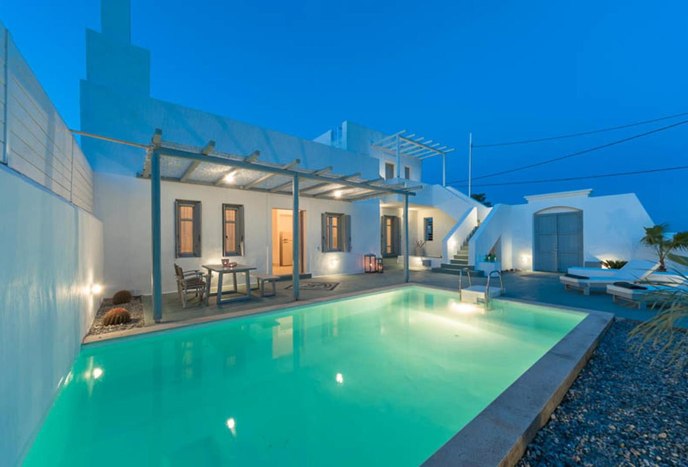Two bedroom Villa with Private pool  evening
