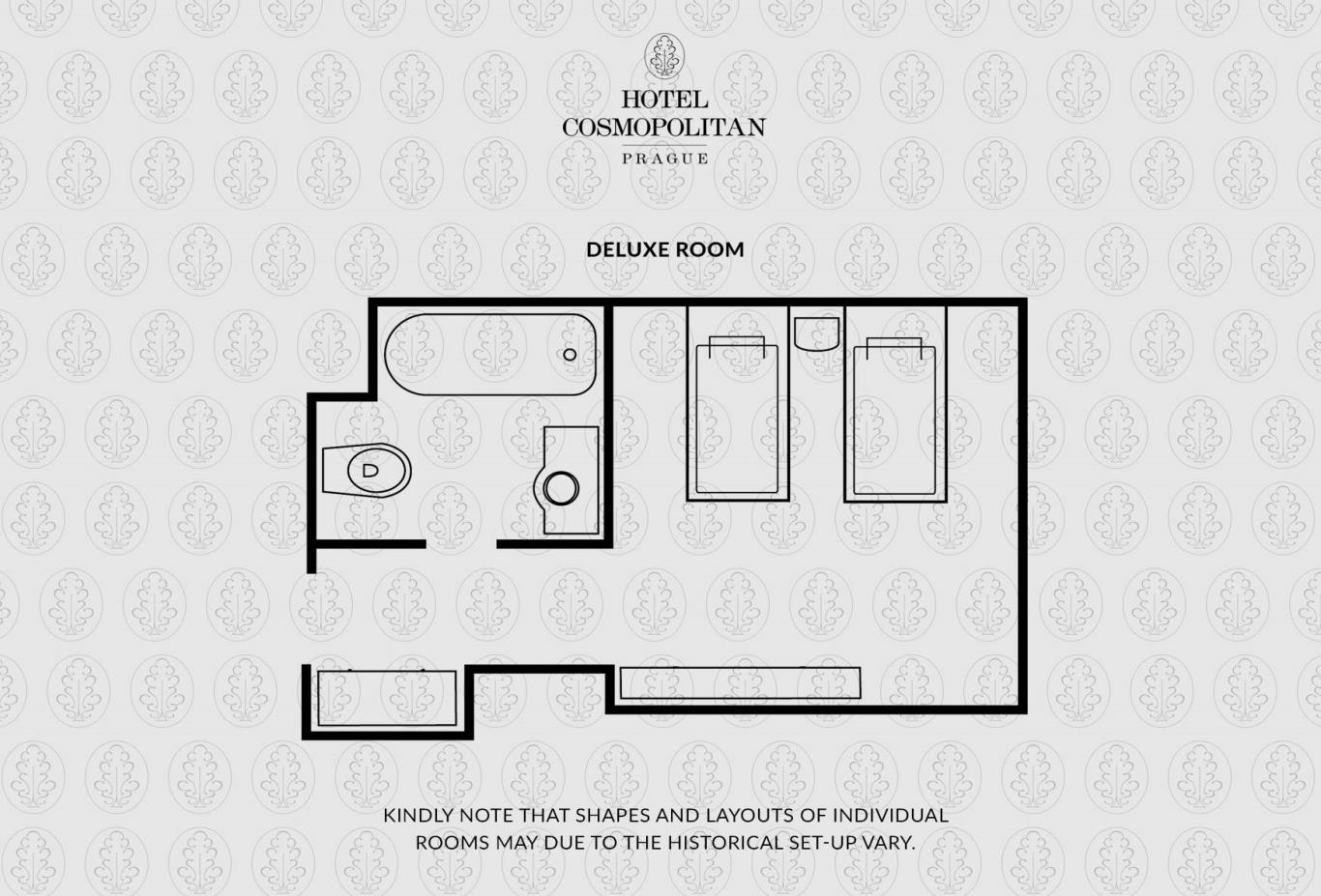 Rooms Deluxe Room Floorplan