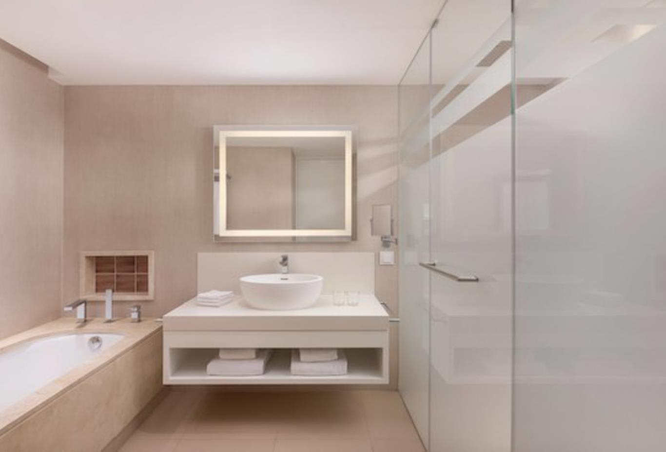 One and two bedroom ocean suite bathroom