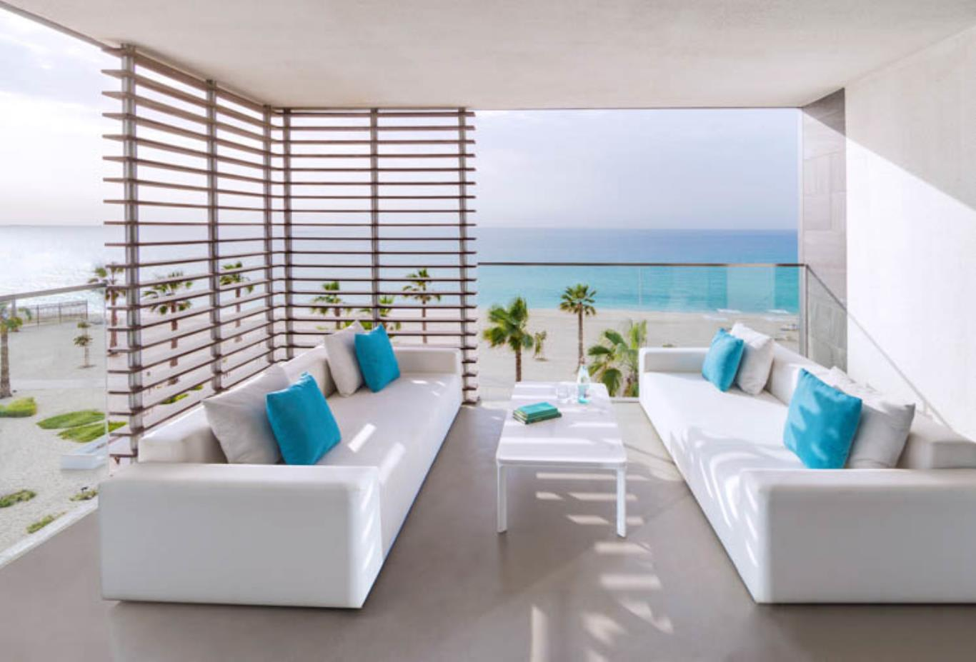 Luux suite balcony beach view
