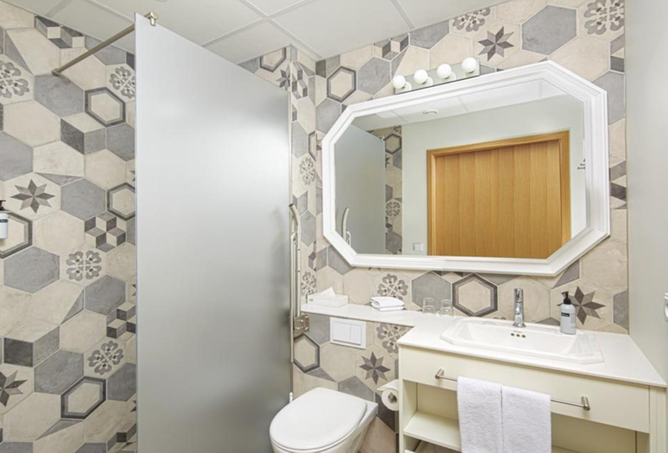 Deluxe Double or Twin Room bathroom