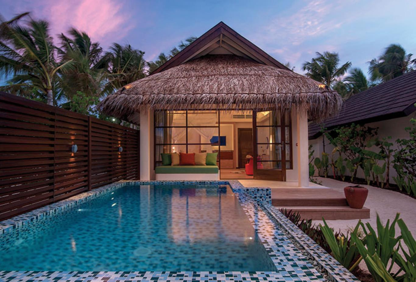 Deluxe Beach Villa Pool exterior view