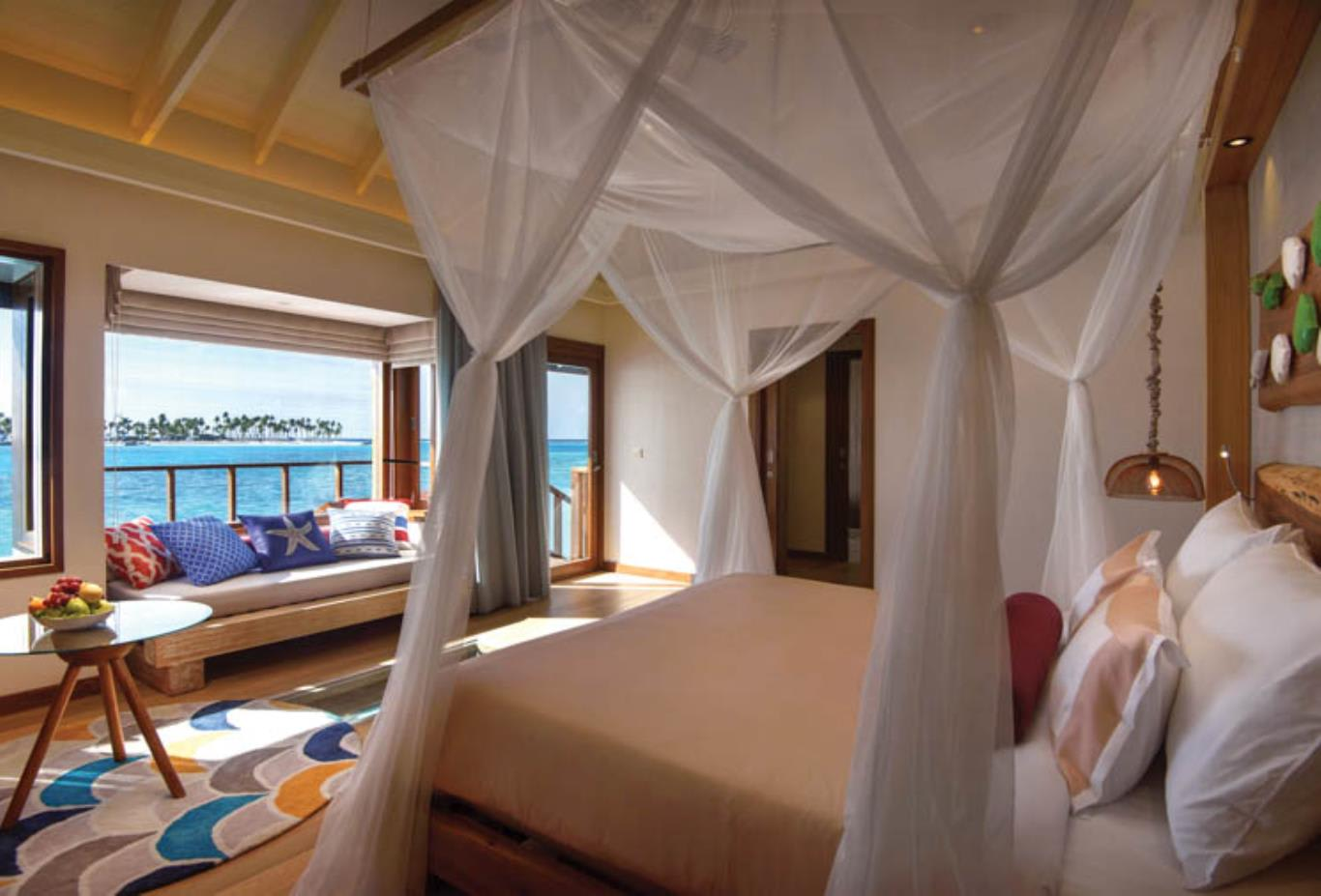 Water Villa bedroom view