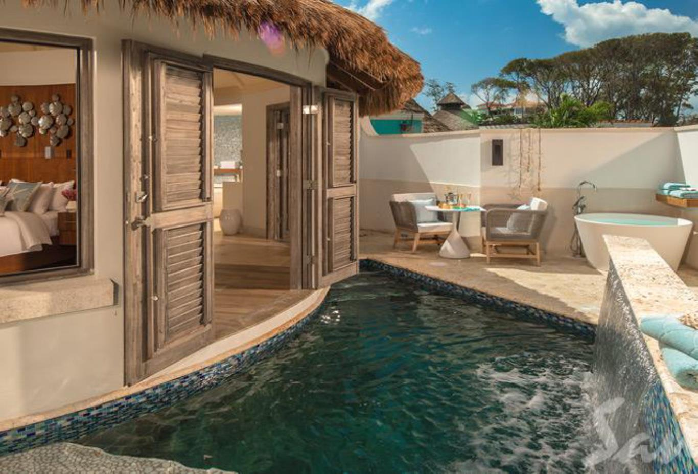 RPP South Seas Royal Rondoval Butler Suite with Private Pool Sanctuary pool