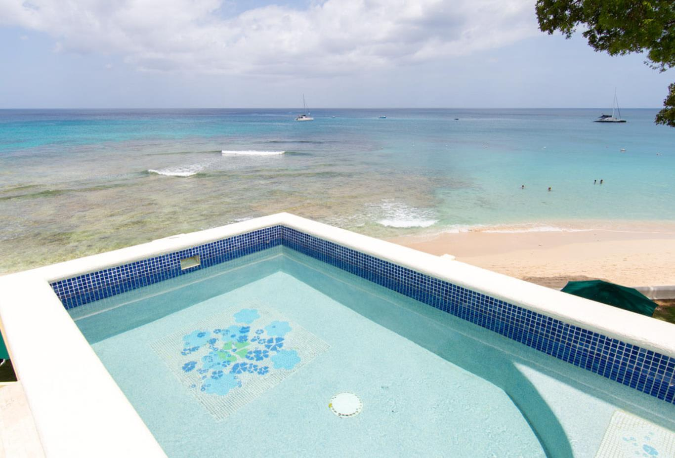 Deluxe and Luxury Ocean View Suites plunge pool