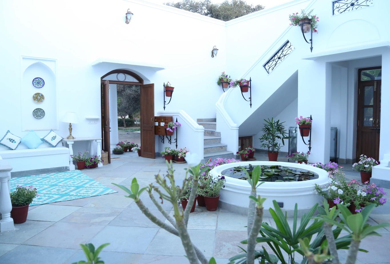 Villa Suite courtyard
