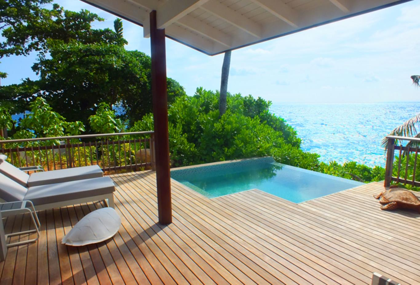 Ocean View Pool Chalet Decking