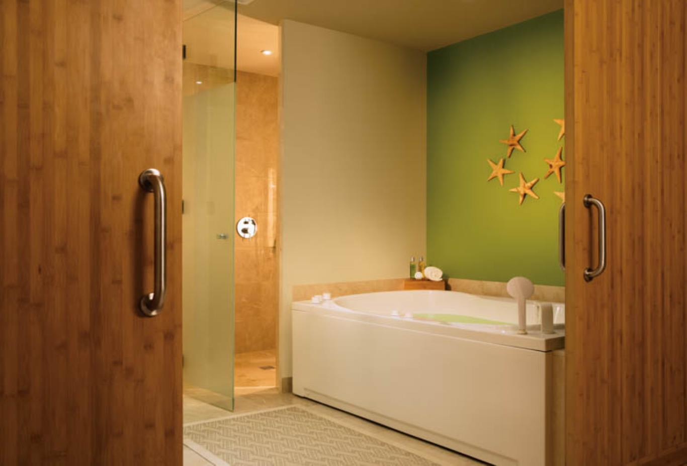 Preferred Club Master Suite indoor whirlpool bathtub and shower