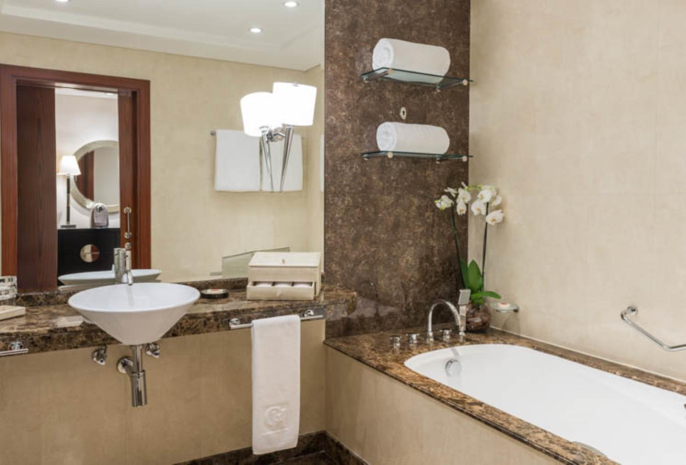 Premier Guest Room bathroom