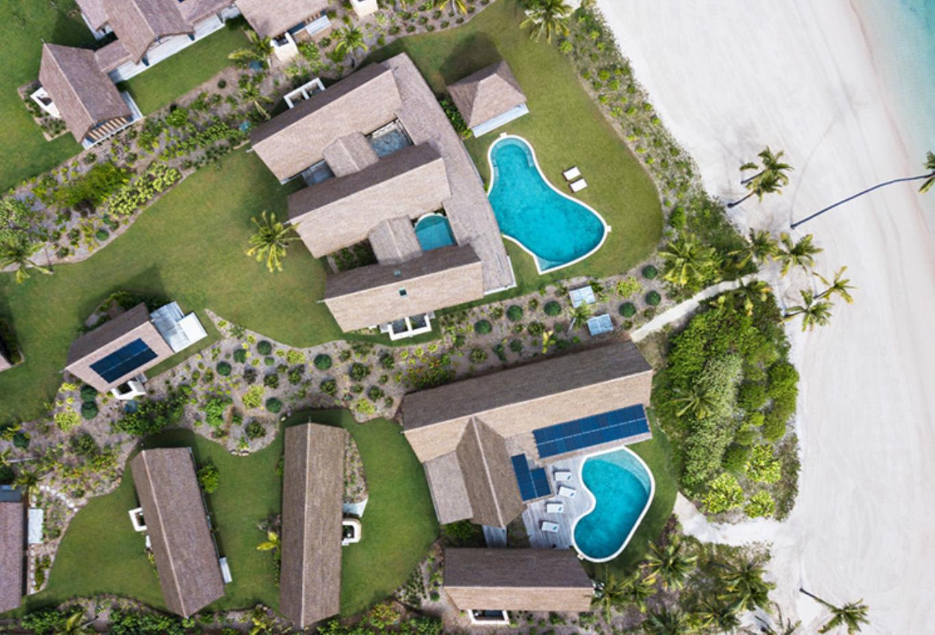 Five Bedroom Beachfront Pool Residence aerial view