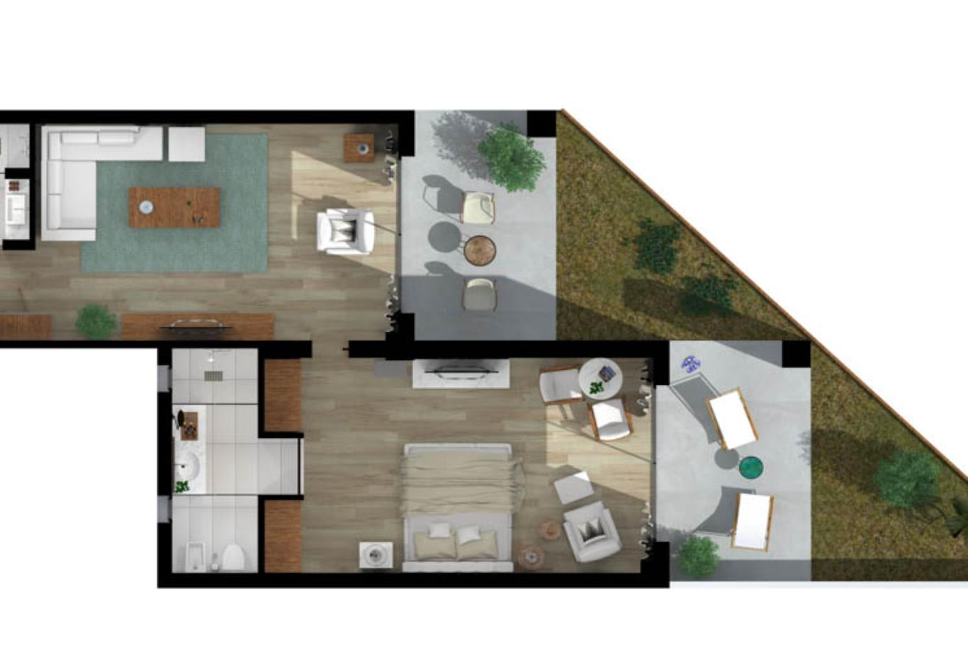 Emerald Suite Beachfront Floorplan