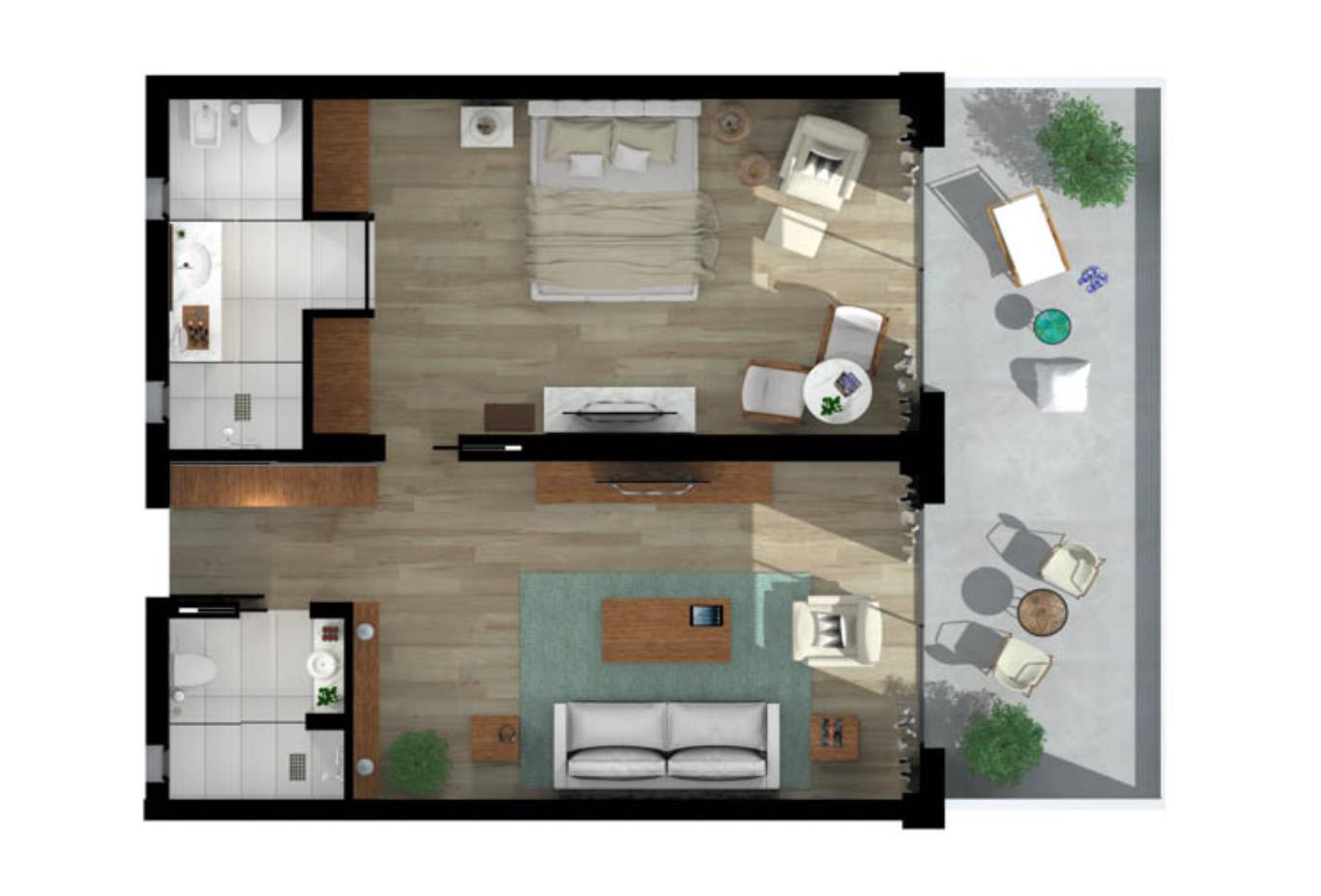 Emerald Suite Floorplan
