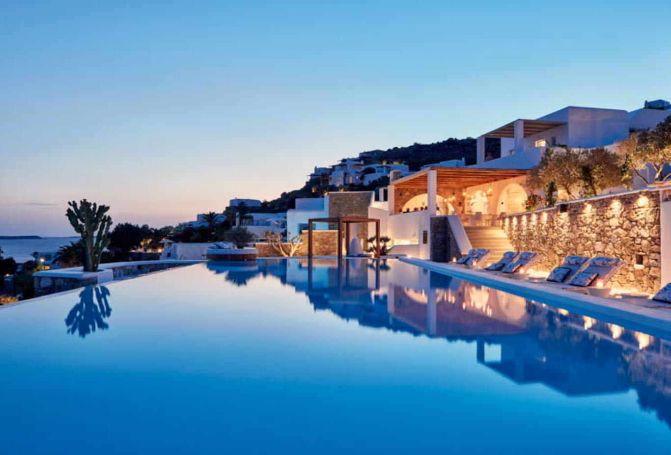 Katikies Mykonos pool and view