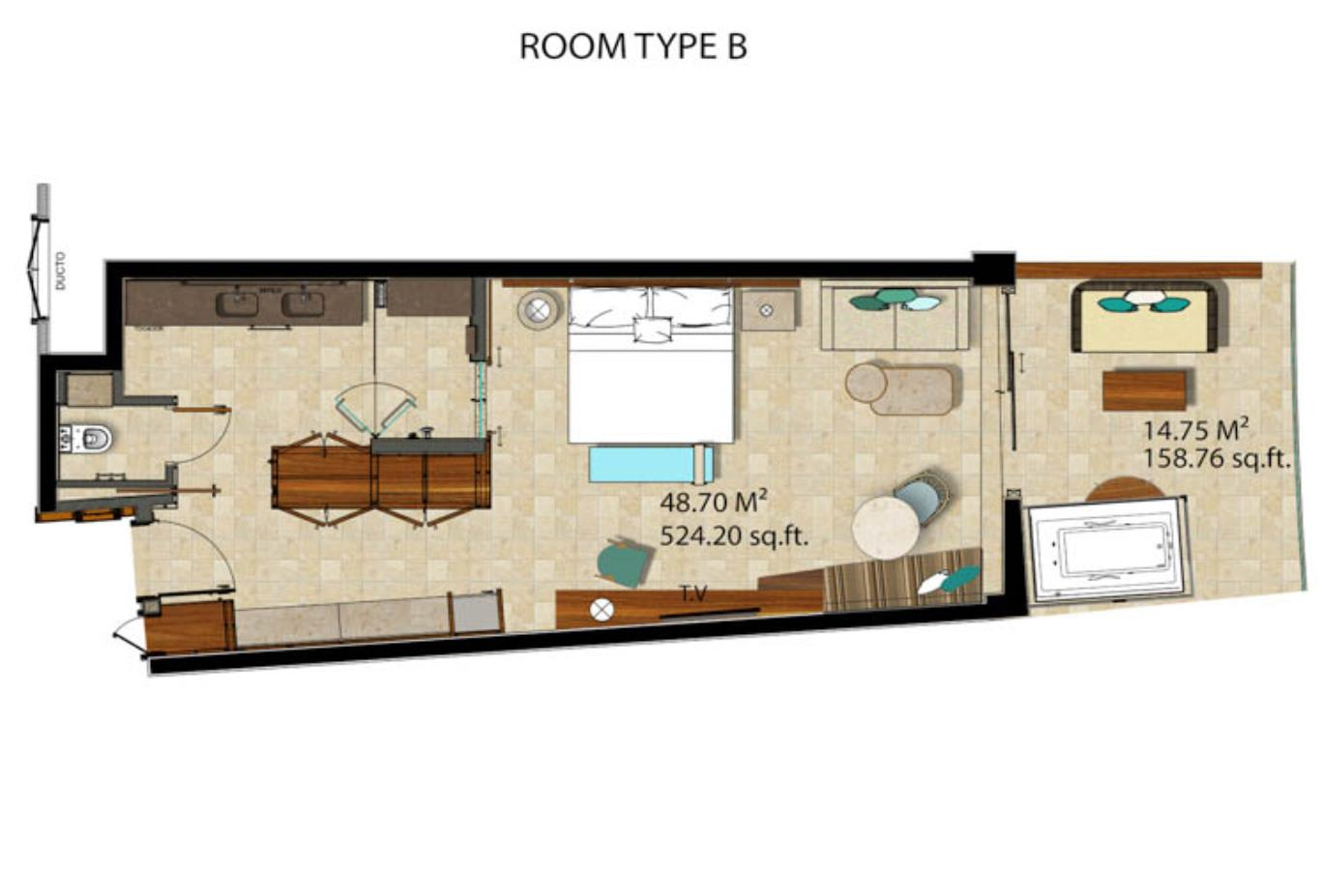Floor Plan Junior Suite Partial Ocean View
