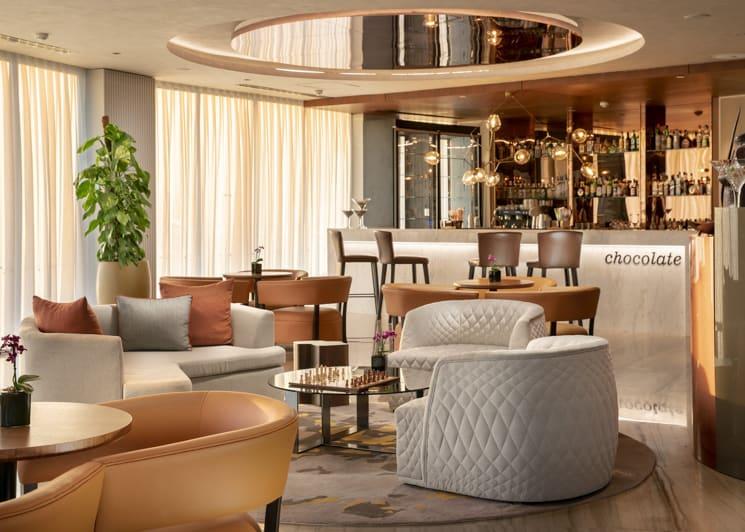 Chocolate bar seating