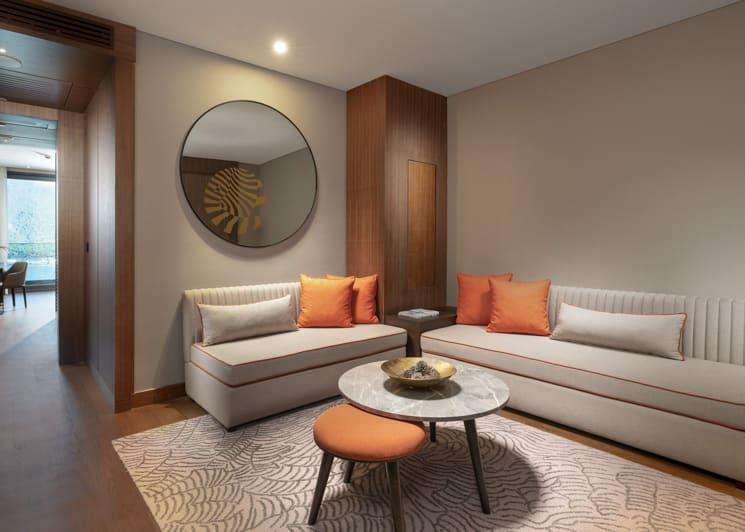 Family corner suite living room