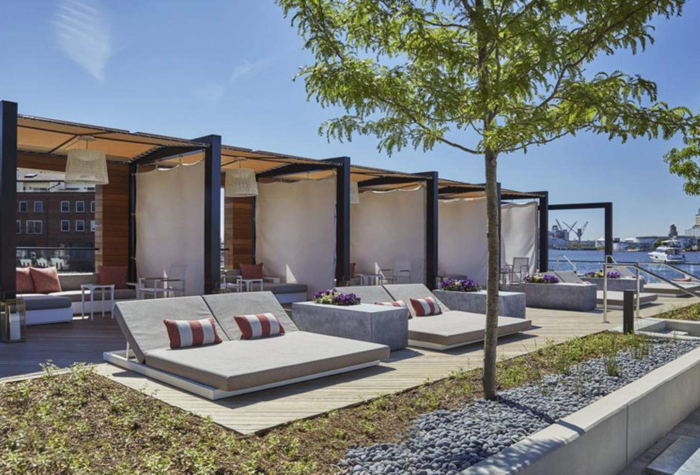 The Pool cabanas