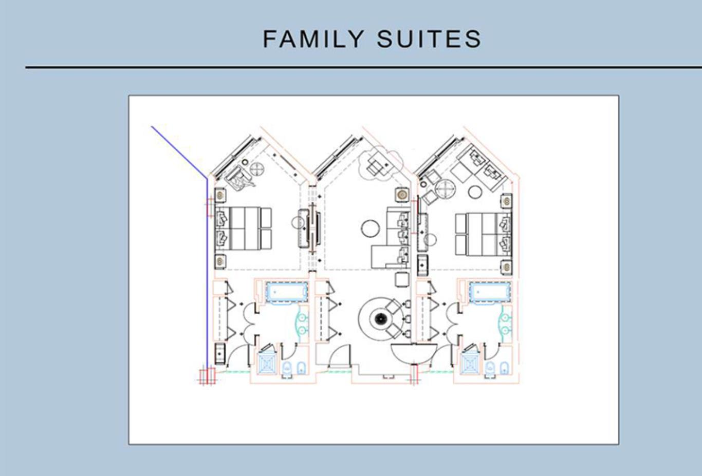 Family Suite Two Bedroom floorplan